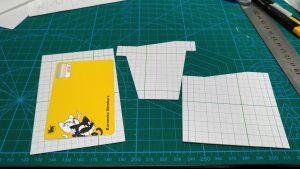 自作の定期入れ兼カードケースの型紙の写真