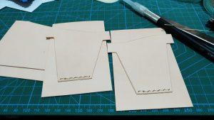 カードポケットパーツを縫い付けたところ