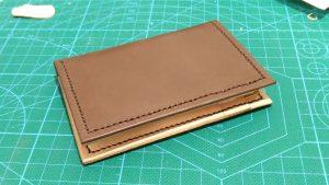 自作の定期入れ兼カードケースの写真